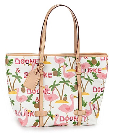 Dooney & Bourke Fabric Flamingo Shopper