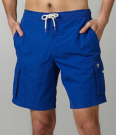 Cremieux Coral Solid Cargo Swim Trunks