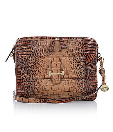Brahmin Toasted Almond Collection Theo Executive Bag