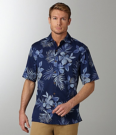 Caribbean Watercolor Print Shirt