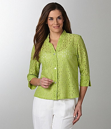 Ruby Rd. Floral Lace Blouse