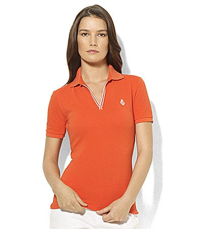 Lauren Active Edd Stretch Cotton Pique Polo Shirt