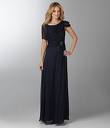 Adrianna Papell Draped Gown