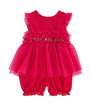 Laura Dare Posh Frilly Ruffled Romper Pajamas