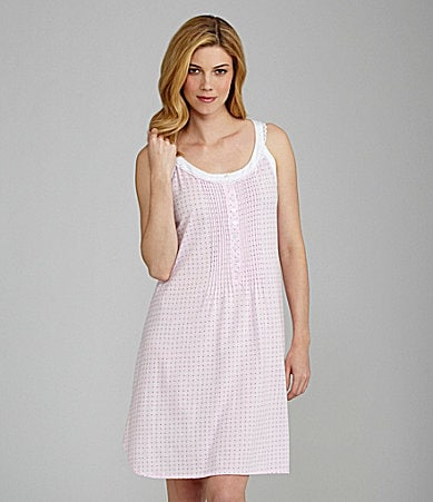 Eileen West Monterey Wildflower Short Sleeveless Nightgown