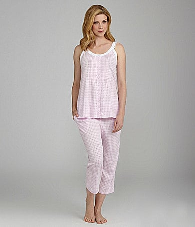 Eileen West Monterey Wildflower Sleeveless Top & Capris Pajamas