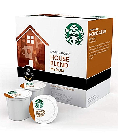 Starbucks House Blend Medium Roast Ground Coffee K-Cups