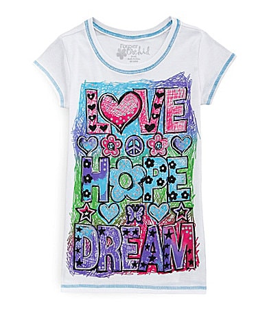 Forever Orchid 7-16 Love Hope Dream Tee