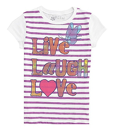Forever Orchid 7-16 Live Laugh Love Screenprint Tee