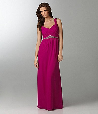 Hailey by Adrianna Papell Bead-Waist Gown