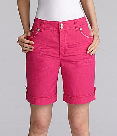 Code Bleu Colored Cuffed Shorts