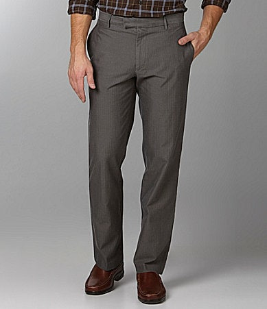 Dockers Textured Straight-Fit Flat-Front Work Pants
