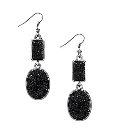 Haskell Jewels Caviar Double Drop Earrings