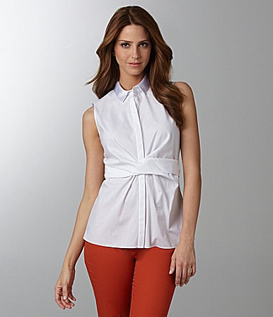 T Tahari Cary Sleeveless Blouse