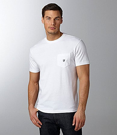 Cremieux Solid Crewneck Pocket Tee