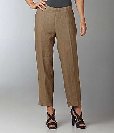 Eileen Fisher Woman Linen Ankle Pants