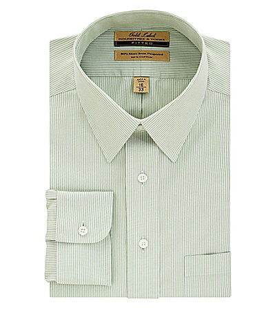 Roundtree & Yorke Gold Label Medium Stripe No-Iron Fitted Dress Shirt