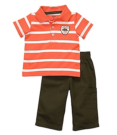 Carter�s Newborn Striped Polo Shirt & Pants Set