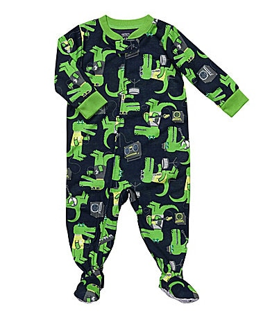 Carter�s Infant Rocking Dinosaur Printed Footed Sleeper