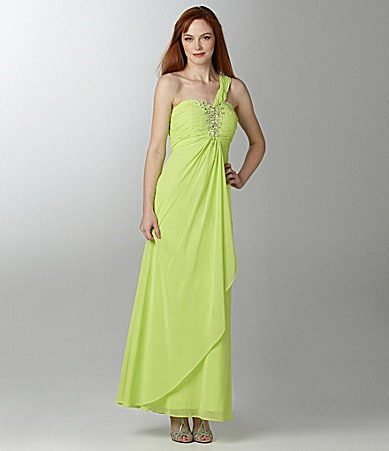 Night Way Bright One-Shoulder Gown