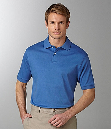 Roundtree & Yorke Big & Tall Luster Soft Solid Pique Polo Shirt