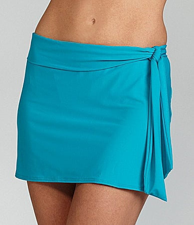 Alex Marie Swim Solid Tie Skirted Bottom