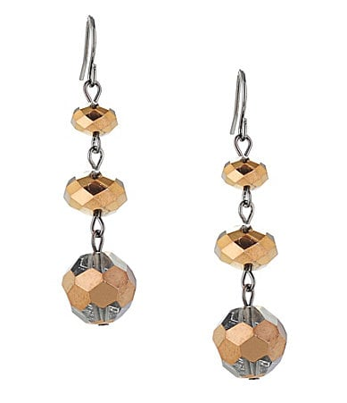 Kenneth Cole New York Modern Bronze Beaded Drop Earrings