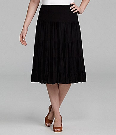 Karen Kane Woman Tiered Skirt