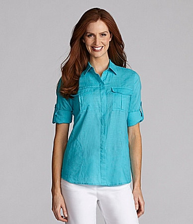 Chaus Sport Roll-Tab Sleeve Shirt