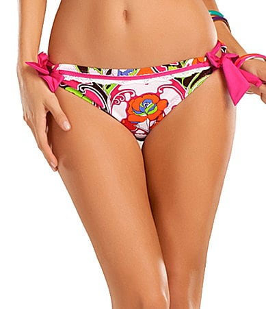 Betsey Johnson Deco Rose Tie Hipster Bottom