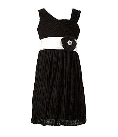 My Michelle 7-16 Pleated Chiffon Dress