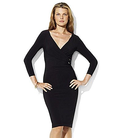 Lauren Ralph Lauren Dress Matte Jersey Surplice Dress