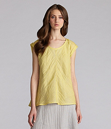 Eileen Fisher Long Linen Top