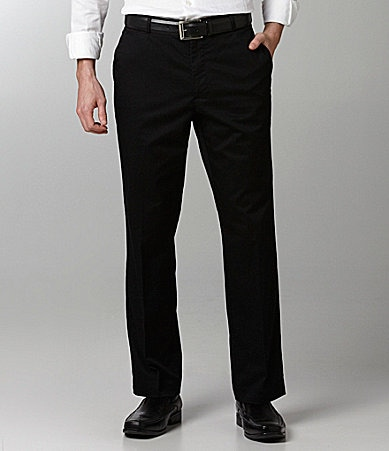 Perry Ellis Stretch Flat Front Twill Pant