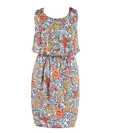 2 Hip by Wrapper 7-16 Butterfly Printed Dress