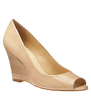 Gianni Bini Kate Snake-Print Wedges