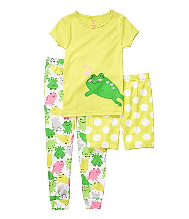 Carter�s Infant 3-Piece Frog Pajama Set