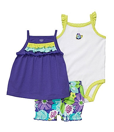 Carter�s Infant Ruffled Dress 3-Piece Set
