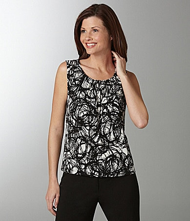 Kasper Abstract-Print Top