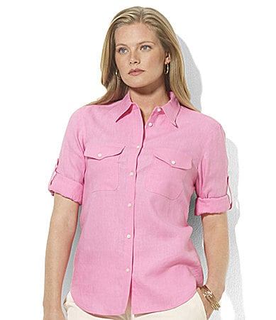 Lauren by Ralph Lauren Woman Clayton Roll-Sleeve Shirt