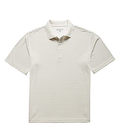 Roundtree & Yorke Performance Striped Polo Shirt