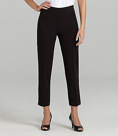 Investments Side-Zip Twill Ankle Pants
