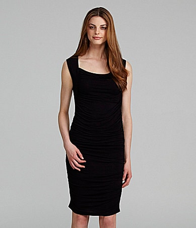 T Tahari Addy Ruched Jersey Dress