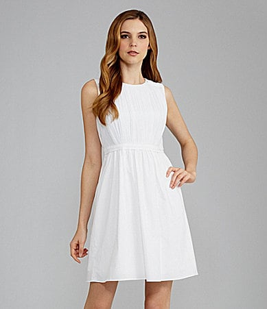 T Tahari Lucca Ruched Dress