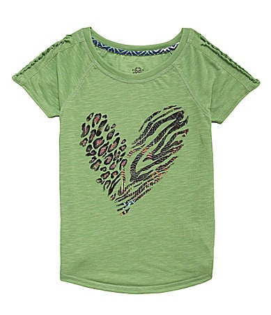 Jessica Simpson Tweenwear 7-16 Adia Pop Art Heart Jersey Top