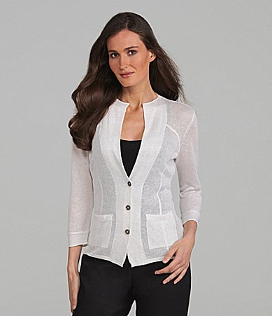 ZoZo Lightweight Button-Front Cardigan