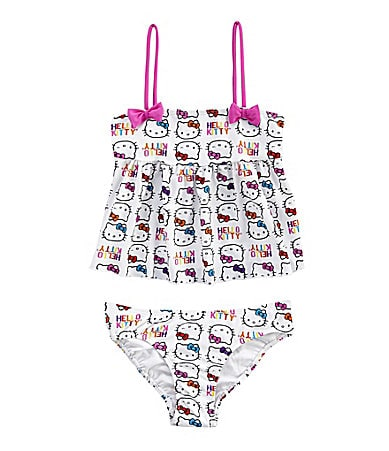 Hello Kitty 4-6X Rainbow Love Tankini 2Pc. Swimsuit