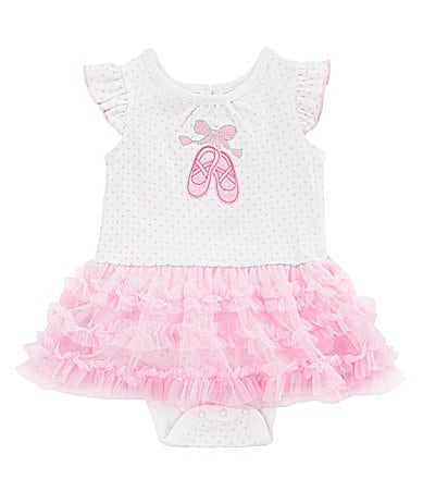 Starting Out Newborn Ballet Skirted Creeper