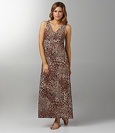 Half Moon Eclipse by Modern Movement Leopard-Print Lounge Maxi Dress