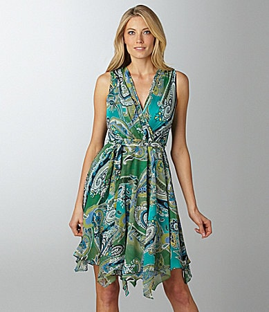 Evan Picone Paisley Print Dress